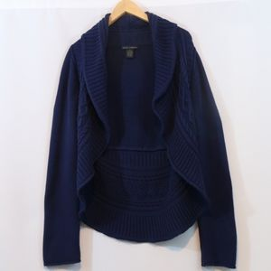 Grace Elements Navy Cable Knit Cardigan Sweater